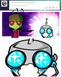 Target, Tumblr, and Anonymous: Anonymous said to askthemighty invader:  whooo wants my burritooo? askthemightyinvader:  ZIM: Get that horrible smelly thing away from me.GIR: BURRRRITOOOOOOOOOOOOO!!