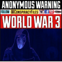 "Facebook, Illuminati, and Kim Jong-Un: ANONYMOUS WARNIND  FOLLOW @CONSPIRACYFILESC.Eide  ube  WORLD WAR3 Double tap and tag a friend! ViewPreviousPost WATCH FULL VIDEO ON FACEBOOK! (Link in bio) SUBSCRIBE ON YOUTUBE! @conspiracyfiles Anonymous recently released a message warning of impending global war based on their observance of increased international tensions between allied countries and North Korea. But unlike past world wars... the battle is likely to be fierce, brutal and quick. It will also be globally devastating, both on environmental and economical levels."" Anonymous delivers this unnerving forecast because of the recent collective actions of China, North Korea, Japan and the U.S., which they say allude to the ""real story."" ""China has reportedly told its citizens living in North Korea to waste no time returning home,"" the group says in reference to the unprecedented message the Chinese Embassy in North Korea recently issued. Additionally, they call attention to statements made by Japanese government officials a few weeks ago. ""The Japanese have told its citizens they will likely only have a ten-minute warning of impending nuclear strike against, but to find shelter in the most solid building they can find."" The group also insinuates that the U.S. has preemptively placed 1250 troops in Australia, which they call a ""strategic location in the Indian Ocean"", under the guise of ""rotational deployment"" in anticipation of impending conflict. President Trump's recent meeting with Filipino President Rodrigo Duterte, they say, is another preparatory action. ""When President Trump starts reaching out to those like President Rodrigo Duterte of the Philippines to assure they are on the same page, one must start to wonder,"" Anonymous says in the video. ""However, even Duterte has advised the US to back away from Kim Jong Un."" (Comment your thoughts below👇🏼) @brantnanton ConspiracyFiles ConspiracyFiles2 Anonymous AnonymousWW3Warning WW3 CorruptGovernment WakeUpSheeple Sheeple CorporationSlayer Rothschild UncleSam UncleScam PopulationReduction Illuminati Killuminati Bilderberg NewWorldOrder ConspiracyFact Conspiracy ConspiracyTheory ConspiracyFact ConspiracyTheories ConspiracyFiles Follow back up page! @conspiracyfiles2"