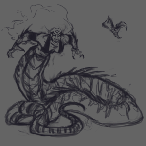 another-darksiders-blog:  fourhorsemenfanfiction:  Have some human hating Naga!Fury!I really wanted her to have some stripes and spikes and the one thing that really helped was looking at iguanas. It's also where I got a lot of inspiration from with the hands. I looked at birds too.   Me at her before getting absolutely shredded to pieces: another-darksiders-blog:  fourhorsemenfanfiction:  Have some human hating Naga!Fury!I really wanted her to have some stripes and spikes and the one thing that really helped was looking at iguanas. It's also where I got a lot of inspiration from with the hands. I looked at birds too.   Me at her before getting absolutely shredded to pieces