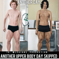 "😳😂😭DON'T BE THAT GUY! Tag someone who skips upper body day! Opinions?🤔 Thoughts? What do you guys think? COMMENT BELOW! Athletes: Unknown. Please tag below if known. TAG SOMEONE who needs to lift! __________________ Check out our principal account: @fitness_legions for the best fitness and nutrition information! Like✅ us on Facebook👉: ""Legions Production"" for a chance at having a shoutout. @legions_production🏆🏆🏆.: ANOTHER DAY  I G  LEGION S  P R O D U C T I O N  ANOTHER UPPER BODY DAY SKIPPED 😳😂😭DON'T BE THAT GUY! Tag someone who skips upper body day! Opinions?🤔 Thoughts? What do you guys think? COMMENT BELOW! Athletes: Unknown. Please tag below if known. TAG SOMEONE who needs to lift! __________________ Check out our principal account: @fitness_legions for the best fitness and nutrition information! Like✅ us on Facebook👉: ""Legions Production"" for a chance at having a shoutout. @legions_production🏆🏆🏆."