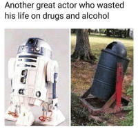 Haha lol: Another great actor who wasted  his life on drugs and alcohol Haha lol