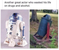 Damn R2D2 Did C3PO leave you or something?: Another great actor who wasted his life  on drugs and alcohol. Damn R2D2 Did C3PO leave you or something?