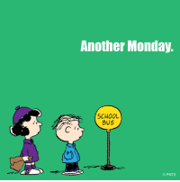 It's Monday again.: Another Monday.  SCHOOL  BUS  PNTS It's Monday again.