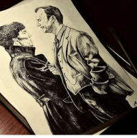 Memes, Sherlock Holmes, and Martin Freeman: Another super cool drawing by @__a_a_a_a__ ! - - - - - ben cumberbatch benedictcumberbatch martin freeman martinfreeman jim moriarty jimmoriarty andrew scott andrewscott mark gatiss markgatiss sherlock holmes sherlockholmes williamsherlockscottholmes john watson marywatson mollyhooper anderson lestrade sallydonovan (credit tagged)