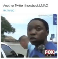 Lmao, Memes, and Twitter: Another Twitter throwback LMAO  #Classic  FOXA  K B T This a Classic Right here 😂