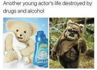 Remember Snuggle Bear? This is him now...feel old yet? Follow: @randysavageaf: Another young actor's life destroyed by  drugs and alcohol  Snuggle Remember Snuggle Bear? This is him now...feel old yet? Follow: @randysavageaf