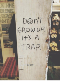 It's a trap: ANT  GROW UP  It's A  TRAP.  2/413