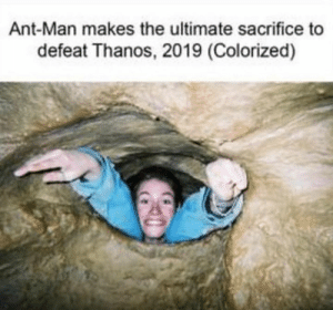 Dank Memes, Thanos, and Ant Man: Ant-Man makes the ultimate sacrifice to  defeat Thanos, 2019 (Colorized) BRUUUUUUUUUUH 😂
