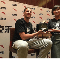 Basketball, Golden State Warriors, and Sports: ANTA  ANTAANTA  ANTA  ANTA  ANTA  ANTA  ANT  ANTA  SHOCK TH  NTA They had Klay sign a toaster in China. 82-0 confirmed for next season.