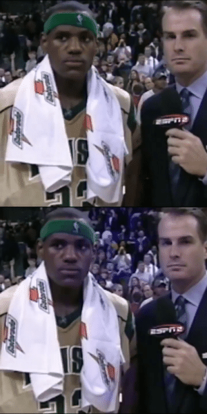 """No pressure for me.""   17 years ago today, @JayBilas interviews 17-year-old @KingJames after his 1st national TV game in high school. https://t.co/uvmyHW5RZN: Antarade ""No pressure for me.""   17 years ago today, @JayBilas interviews 17-year-old @KingJames after his 1st national TV game in high school. https://t.co/uvmyHW5RZN"