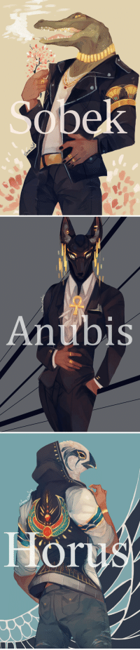 Target, Tumblr, and Access: Antbis crimson-chains:  Egyptian gods in modern day attire :D5 dollar patrons have access to a speedpaint of Horus! ^^