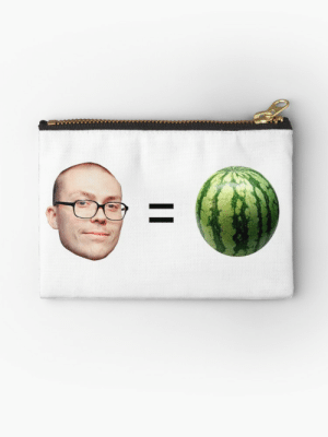 """Anthony Fantano is a Melon"""" Studio Pouches by dagenmeem   Redbubble: Anthony Fantano is a Melon"""" Studio Pouches by dagenmeem   Redbubble"""