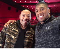 Boxing, Soccer, and One: Anthony Joshua with a boxing icon   Not many have knocked out an entire country with just one left hand https://t.co/rKxU3a9OfI