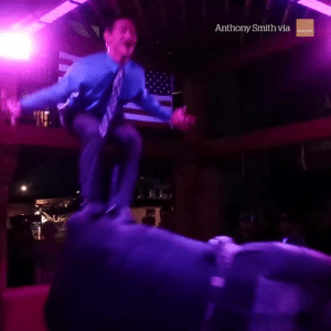 This guy is a mechanical bull riding master 😱: Anthony Smith via This guy is a mechanical bull riding master 😱