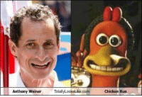 this has probably already been posted but is relevant now: Anthony Weiner  TotallyLooksLike com  Chicken Run this has probably already been posted but is relevant now
