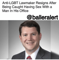 "Facebook, Family, and Friends: Anti-LGBT Lawmaker Resigns After  Being Caught Having Sex With a  Man In His Office  @balleralert Anti-LGBT Lawmaker Resigns After Being Caught Having Sex With a Man In His Office – blogged by @msJennyb ⠀⠀⠀⠀⠀⠀⠀ ⠀⠀⠀⠀⠀⠀⠀ An anti-LGBT Ohio lawmaker is finally living his truth after being caught having sex with a man inside his office. ⠀⠀⠀⠀⠀⠀⠀ ⠀⠀⠀⠀⠀⠀⠀ According to reports, Republican state legislator Wes Goodman, who consistently publicized his Christian faith to push his anti-LGBT agenda, has resigned after his closeted acts were exposed. Goodman usually force-fed the ""family values"" narrative, which appears to have been a cover-up for his secret affair, to hold up his right-wing legislator persona. ⠀⠀⠀⠀⠀⠀⠀ ⠀⠀⠀⠀⠀⠀⠀ However, after being caught stepping out on his wife with another man, Goodman sat down with House Speaker Cliff Rosenberger for a meeting. Shortly after, the 33-year-old stepped down from his position for ""inappropriate conduct."" ⠀⠀⠀⠀⠀⠀⠀ ⠀⠀⠀⠀⠀⠀⠀ ""We all bring our own struggles and our own trials into public life,"" he said in a statement. ""That has been true for me, and I sincerely regret that my actions and choices have kept me from serving my constituents and our state in a way that reflects the best ideals of public service. For those whom I have let down, I'm sorry. As I move onto the next chapter of my life. I sincerely ask for privacy for myself, my family, and my friends."" ⠀⠀⠀⠀⠀⠀⠀ ⠀⠀⠀⠀⠀⠀⠀ Goodman's website, which has since been taken down, highlighted commitment, conservative principles, and family values. He also frequently touted ""natural [heterosexual] marriage"" and Christian views. The former lawmaker's twitter has since been switched to private and his Facebook has been deleted."