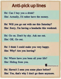 😍 Chat up lines for women