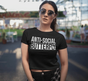 cool-shirts:Anti-Social Butterfly T-Shirt: ANTI-SOCIAL  BUTTERFLY cool-shirts:Anti-Social Butterfly T-Shirt