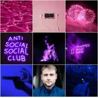 Club, Mood, and Target: ANTI  SOCIAL  SOCIAL  cLUB  TRAPPED  IN MY  MIND spaceprincessem:Bisexual Character Mood Board - Wolfgang Bogdanow (Sense8)