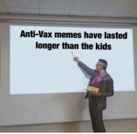 Memes, Kids, and MeIRL: Anti-Vax memes have lasted  longer than the kids meirl