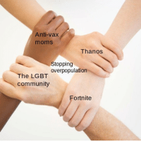 Community, Lgbt, and Moms: Anti-vax  moms  Thanos  Stopping  overpopulation  The LGBT  community  Fortnite