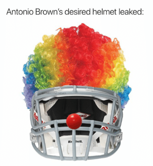 Dell, Nfl, and Browns: Antonio Brown's desired helmet leaked:  OFUNNIESTNFLMEMES  SP  D  R dell  RID (Credit: FunniestNFLMemes)