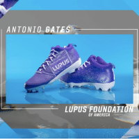 RT @Chargers: Lacing 'em up for a cause.   https://t.co/BxUUO6t1bi   #MyCauseMyCleats https://t.co/S9gyaEYqAk: ANTONIO GATES  LUPUS  LUPUS FOUNDATION  OF AMERICA RT @Chargers: Lacing 'em up for a cause.   https://t.co/BxUUO6t1bi   #MyCauseMyCleats https://t.co/S9gyaEYqAk