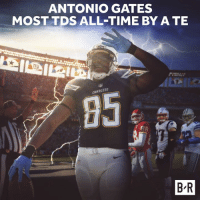 112 and counting...: ANTONIO GATES  MOST TDS ALL-TIME BY A TE  CHARGERS  B R 112 and counting...