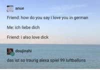 How Do You Say I Love You In German