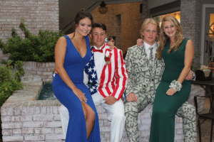 "America, Birthday, and Chill: anxiety-unlimited: egowave:  khaleesiofalldragons:  anxiety-unlimited:  egowave: why are these kids just out here in their prom pics looking like the personified embodiment of capitalism and america that youd see in an old soviet propaganda poster i can tell you right now that these are rich people. it's not the hot tub in the background. it's not even the money suit. it's the fact that both girls are dressed and styled like women in their 40s. seriously, i have two cousins who are rich as hell and this is how they dress. ive seen pictures of groups of them flocked together, usually somewhere with a golf course in the background, every last one of them dressed exactly like their mothers. i dont know why. but i can tell you right now with absolute certainty these girls went to a debutante ball and have had their own horse since they were 10. they named it trudy or something. i know all this because those girls are about to leave the house looking like the desperate housewives and nobody sees anything wrong with that    Damn, chill^ I purchased my first horse as a child with birthday funds, lets save all that salt for fries honey.  ""i purchased my first horse as a child with birthday funds""  ""my first horse"""