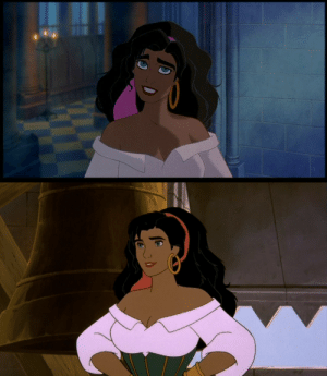 anxsepticeyeity: karmadash-is-reylotrash:  inked-up-devil-doc:  lasimms:  sugar-women:  nicolas-px:  moe-moe-watches:  once-delight:  xavantina:  drsofialamb:  the sudden decrease in animation quality between the first hunchback and the sequel is both hilarious and sad     The Return of Jafar  charliekelly69:    i had to reblog this because im actually pissig mysefl  Let's take a second to compare Aladdin to The Return of Jafar: Ouch  Esmorolda and Corpet  kelverse        I've been hysterically wheezy laughing at the last gif for about two minutes solid  I get so angry, then u get to the last gif and I'm crying of laughter  SDHKKDHKSDFH : anxsepticeyeity: karmadash-is-reylotrash:  inked-up-devil-doc:  lasimms:  sugar-women:  nicolas-px:  moe-moe-watches:  once-delight:  xavantina:  drsofialamb:  the sudden decrease in animation quality between the first hunchback and the sequel is both hilarious and sad     The Return of Jafar  charliekelly69:    i had to reblog this because im actually pissig mysefl  Let's take a second to compare Aladdin to The Return of Jafar: Ouch  Esmorolda and Corpet  kelverse        I've been hysterically wheezy laughing at the last gif for about two minutes solid  I get so angry, then u get to the last gif and I'm crying of laughter  SDHKKDHKSDFH