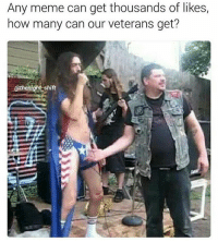 American Horror Story, Meme, and Memes: Any meme can get thousands of likes,  how many can our veterans get?  @thenight shift American Horror Story starts in September 😨