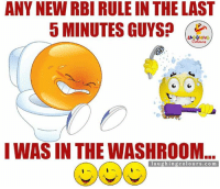 Indianpeoplefacebook, Latest, and 5 Minutes: ANY NEW RBI RULE N THE LAST  5 MINUTES GUYS?  LA GHING  I WAS IN THE WASHROOM  l a u g hing colo u rs.com Any Latest Update..