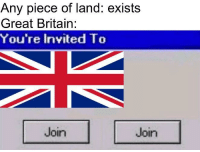 Britain offers the land of Zimbabwe a choice of freedom (1895): Any piece of land: exists  Great Britain:  You're Invited To  Join  Join Britain offers the land of Zimbabwe a choice of freedom (1895)