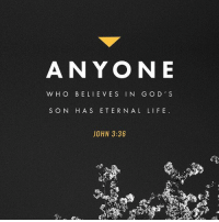 """""""Whoever believes in the Son has eternal life, but whoever rejects the Son will not see life, for God's wrath remains on them.""""-John 3:36 NIV. verseoftheday Jesus salvation christians RenewedMovement LoveRenewed316: ANYON E  WHO BELIEVES IN GO D' S  S ON HAS E TERN AL LIFE  JOHN 3:36 """"Whoever believes in the Son has eternal life, but whoever rejects the Son will not see life, for God's wrath remains on them.""""-John 3:36 NIV. verseoftheday Jesus salvation christians RenewedMovement LoveRenewed316"""