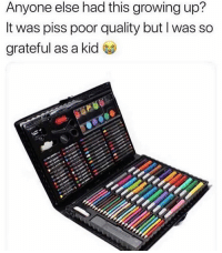 Growing Up, Memes, and Nostalgia: Anyone else had this growing up?  It was piss poor quality but I was so  grateful as a kid Who had this growing up? 😭 nostalgia