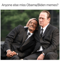 Are we allowed to get nostalgic about this Oval Office bromance? YES WE CAN: Anyone else miss Obama/Biden memes?  @sideofricepilaf Are we allowed to get nostalgic about this Oval Office bromance? YES WE CAN