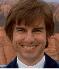 Anyone ever noticed how Tom Cruise has his two front teeth shifted way to the left?: Anyone ever noticed how Tom Cruise has his two front teeth shifted way to the left?