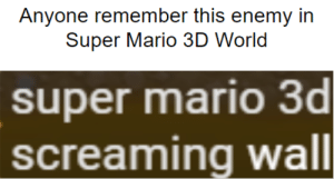 Super Mario, Mario, and World: Anyone remember this enemy in  Super Mario 3D World  super mario 3d  screaming wall Found this is the Super Mario Maker 2 Direct