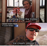 If Kimi Raikkonen was in Harry Potter...  #ChamF1GM: anything from the trolley?  Santa  IMAGE TAKEN FROM:  F1 GAME MEMES  Ice cream, please! If Kimi Raikkonen was in Harry Potter...  #ChamF1GM