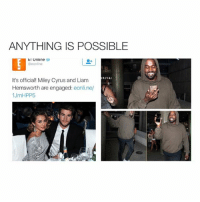 Wasn't she just dating Patrick wtf: ANYTHING IS POSSIBLE  E! Online  RIVA  It's official! Miley Cyrus and Liam  Hemsworth are engaged  eonline/  1 JmHPP5 Wasn't she just dating Patrick wtf