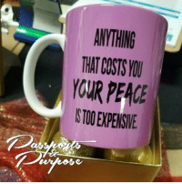 Memes, Entrepreneur, and Affirmation: ANYTHING  THAT COSTS ☕ What is your peace worth? This bestselling mug from @passportsandpurpose is on sale for only $15! Also available in tees and hoodies! @passportsandpurpose . . . . passportsandpurpose mug smallbusiness blackowned motivation inspiration inspirational blackbusiness business selfcare entrepreneur supportblackbusiness shopping buyblack affirmation blackownedbusiness motivationalquotes relationshipquotes qotd lifequotes giftsforher inspirationalquotes inspire gifts