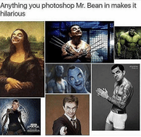 Photoshop, Mr. Bean, and World: Anything you photoshop Mr. Bean in makes it  hilarious Welcome to bean world