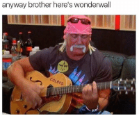 Lmao @friendofbae is hilarious: anyway brother here's wonderwall Lmao @friendofbae is hilarious