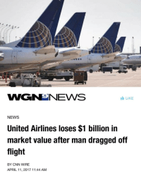 """cnn.com, Google, and Jail: aouime  10  65  WGNeNEWS  Ide LIKE  NEWS  United Airlines loses $1 billion in  market value after man dragged off  flight  BY CNN WIRE  APRIL 11, 2017 11:44 AM <p><a href=""""http://scatteredaesthetics.tumblr.com/post/159480717563"""" class=""""tumblr_blog"""">scatteredaesthetics</a>:</p><blockquote> <p>This is why the market is superior to the State.</p>  <p>Private companies obtain their revenue from voluntary payment. The State obtains its revenue by mass extortion.</p>  <p>When this sort of thing happens in the private sector, that company loses lots of money, and faces demise because people will simply not do business with them.</p>  <p>Now every other airline is checking themselves, making sure they don't feel the pain United is.</p>  <p>If this happened on Amtrak, or some other socialist State owned and subsidized monopoly, nothing really negative, economically speaking, can happen to them because unlike the private sector, the State has a steady and constant flow of revenue by threatening the populace with violence, jail, and property confiscation.</p>  <p>Liberate fully everywhere. <br/><a href=""""https://www.google.com/amp/wgntv.com/2017/04/11/united-airlines-loses-1-billion-in-market-value-after-man-dragged-off-flight/amp/"""">https://www.google.com/amp/wgntv.com/2017/04/11/united-airlines-loses-1-billion-in-market-value-after-man-dragged-off-flight/amp/</a> #voluntaryism #unitedairlines #oppression #freemarket #anarchocapitalism #anarchy #endthefed #thestate #freemarketsolutions #libertarian #cnn</p> </blockquote>"""