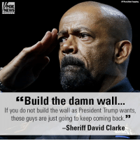 "On ""FOX & Friends Weekend,"" Sheriff David Clarke slammed the not guilty verdict for Jose Ines Garcia Zarate, the illegal immigrant who shot and killed Kate Steinle.: AP PhooMark Humphrey  FOX  NEWS  Build the damn wall  If you do not build the wall as President Trump wants,  these quys are just going to keep coming back.  Sheriff David Clarke On ""FOX & Friends Weekend,"" Sheriff David Clarke slammed the not guilty verdict for Jose Ines Garcia Zarate, the illegal immigrant who shot and killed Kate Steinle."