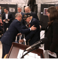 A 100-year-old World War II veteran, who was born and raised in Kentucky, has received the highest honor from the French government for bravery shown in battle. Retired Lt. Col. William Pollard was awarded the French Legion of Honor during a special ceremony at the Kentucky Capitol on Monday.: AP Photo/Adam Beam A 100-year-old World War II veteran, who was born and raised in Kentucky, has received the highest honor from the French government for bravery shown in battle. Retired Lt. Col. William Pollard was awarded the French Legion of Honor during a special ceremony at the Kentucky Capitol on Monday.