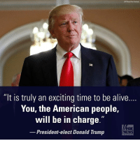 """""""You will be the captains of your destiny once more!"""" President-elect @realdonaldtrump posts a message of hope and inspiration. election2016: AP Photo/Alex Brandon)  """"It is truly an exciting time to be alive.  You, the American people,  II  will be in charge  FOX  President-elect Donald Trump  NEWS """"You will be the captains of your destiny once more!"""" President-elect @realdonaldtrump posts a message of hope and inspiration. election2016"""