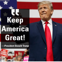 During his remarks at the Make America Great Again rally in support of GOP congressional candidate Rick Saccone, President DonaldTrump revealed his 2020 campaign slogan.: AP Photo/Carolyn Kaster)  Keep  America  Great!  -President Donald Trump  FOX  EWS During his remarks at the Make America Great Again rally in support of GOP congressional candidate Rick Saccone, President DonaldTrump revealed his 2020 campaign slogan.
