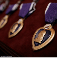 "Memes, George Washington, and Heart: (AP Photo/Charles Dharapak) Today is Purple Heart Day. It is the nation's oldest military award, which was originally introduced as the ""Badge of Military Merit"" by General George Washington on August 7, 1782."